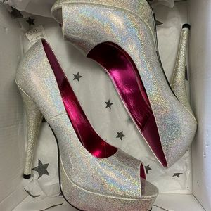 RuPaul for Iron Fist Holographic Pumps